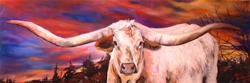 Art: TEXAS LONGHORN- SOLD to private collector April 2005 by Artist Marcia Baldwin
