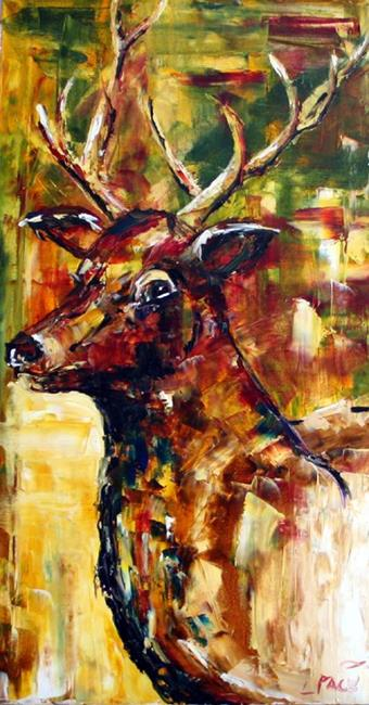 Art: Elk Small by Artist Laurie Justus Pace