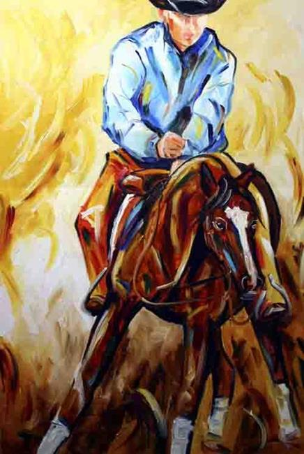 Art: Rodeo Two by Artist Laurie Justus Pace