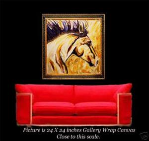 Detail Image for art The Outer Edge Second in the Series of Wild Horses