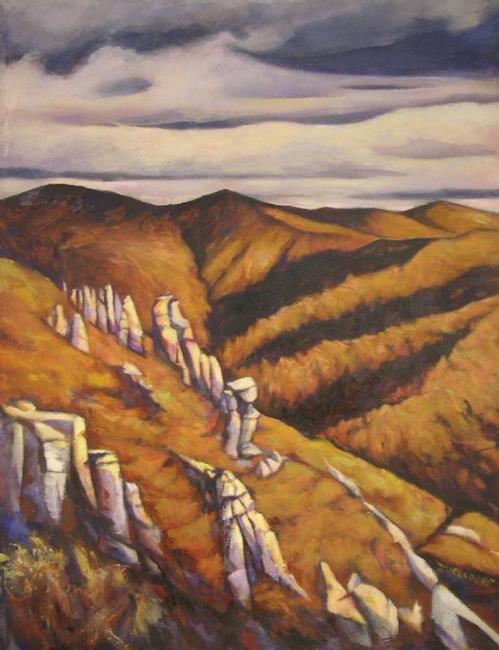 Art: Arizona landscape (sold) by Artist Virginia Ann Zuelsdorf