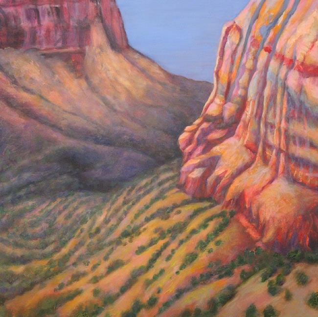 Art: Canyon #5 by Artist Virginia Ann Zuelsdorf