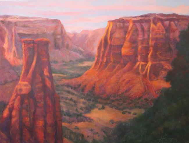 Art: Canyon #5 (sold) by Artist Virginia Ann Zuelsdorf