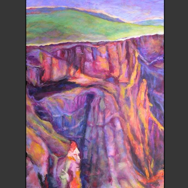 Art: Mountain Face #3 (sold) by Artist Virginia Ann Zuelsdorf