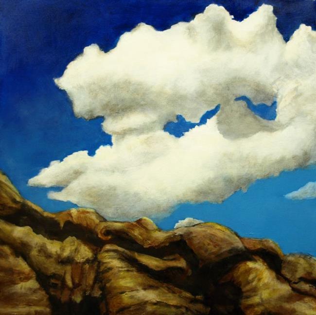 Art: Cliff Clouds by Artist Virginia Ann Zuelsdorf