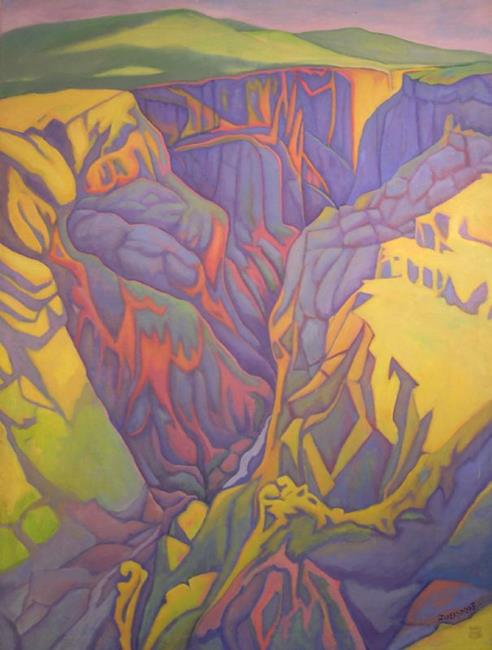 Art: Black Canyon by Artist Virginia Ann Zuelsdorf