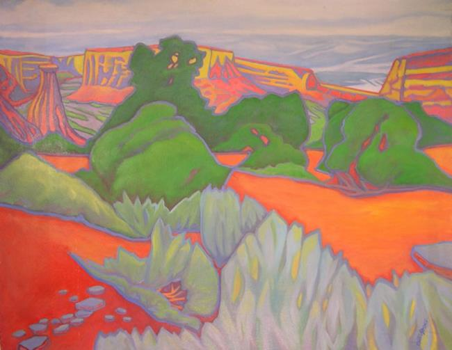 Art: Wonderland aka Colorado Landscape (sold) by Artist Virginia Ann Zuelsdorf