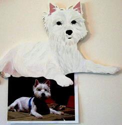 Art: Westie Custom Portrait by Gina Stern