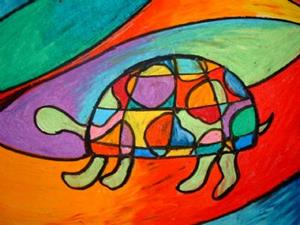 Detail Image for art Little Turtle in the Big City