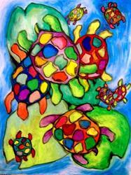 Art: Turtle Familiglia by Artist Chris Jeanguenat