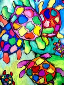 Detail Image for art Turtle Familiglia