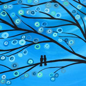 Detail Image for art Blue Two Birds in a Tree