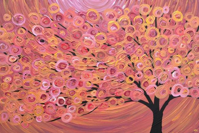Art: Autumn Tree Painting by Artist Louise Mead