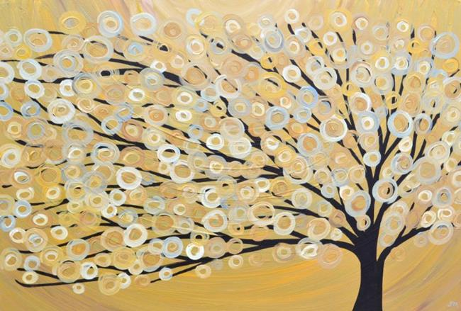 Art: Gold Tree Painting by Artist Louise Mead
