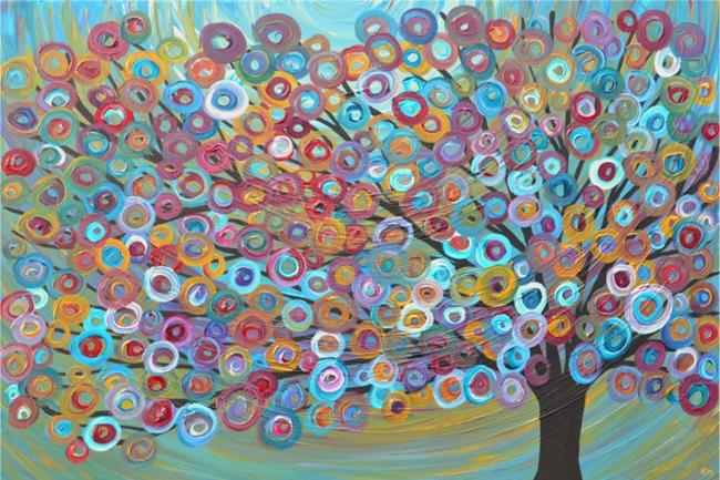 Art: Tree Painting by Artist Louise Mead