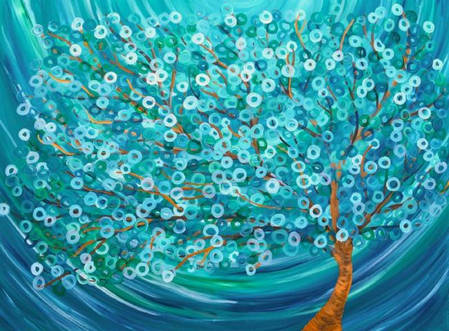 Art: Winter Morning Tree by Artist Louise Mead