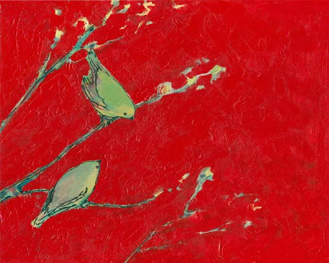 Art: Birds in Red by Artist Jennifer Lommers