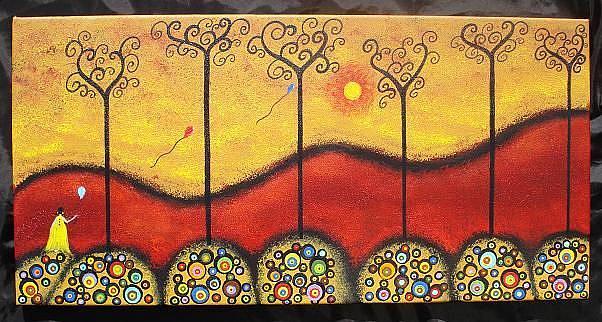 Art: Three Wishes by Artist Juli Cady Ryan