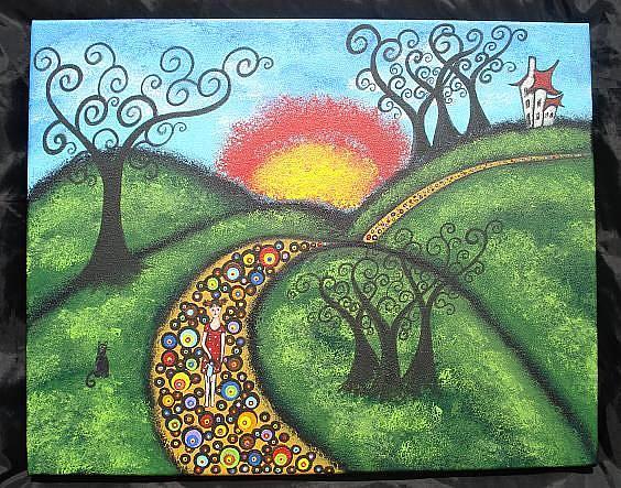 Art: The Long Road Home by Artist Juli Cady Ryan