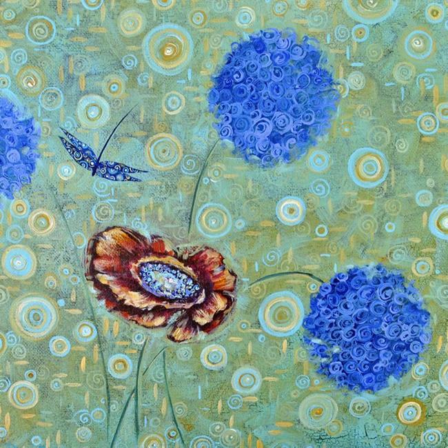 Art: A Swirl Around the Garden - Sold by Artist Dana Marie