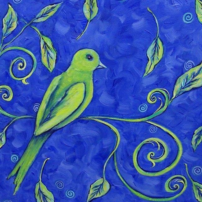 Art: Birds Eye View in Blue by Artist Dana Marie