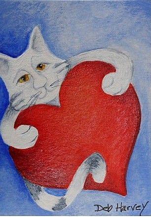 Art: Heart Hug by Artist Deb Harvey