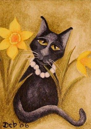 Art: Pearls and Daffodils by Artist Deb Harvey