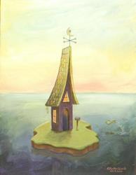Art: Island House by Artist Cynthia Schmidt