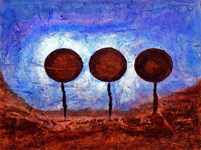 Art: Chocolate Lollipop Landscape by Artist Diane G. Casey