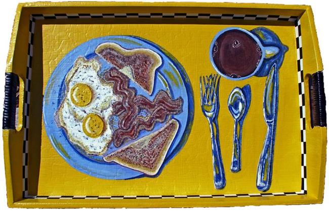 Art: Blue Plate special (aka You Been Served!) by Artist Diane G. Casey