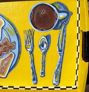 Detail Image for art Blue Plate special (aka You Been Served!)