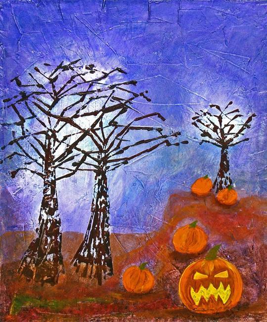 Art: Evil Pumpkin Patch by Artist Diane G. Casey