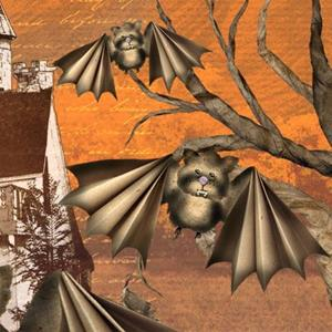 Detail Image for art Cute Vampire Bats - Trying To Look Scary