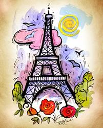 Art: Eiffel Tower ~ Paris, France by Artist Patricia  Lee Christensen
