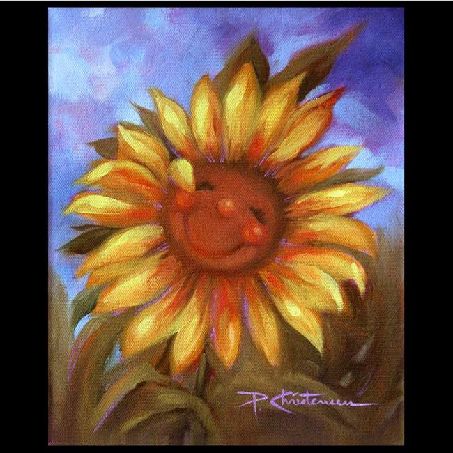 Art: Keep On The Sunny Side ~ Happy Sunflower by Artist Patricia  Lee Christensen