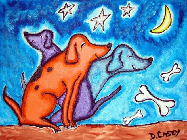 Art: 3 Dog Nite by Artist Diane G. Casey