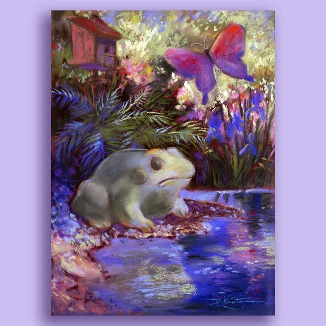 Art: Frog & Butterfly by Artist Patricia  Lee Christensen