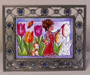 Detail Image for art Painting Tulips Red - ACEO