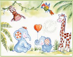 Art: Jungle Babies by Artist Patricia  Lee Christensen
