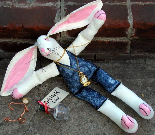 Art: White Rabbit's Wild Weekend! by Artist Diane G. Casey
