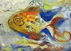 Art: Wild Fish by Artist Delilah Smith