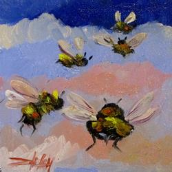 Art: Five Bees by Artist Delilah Smith