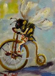 Art: Biker Bee by Artist Delilah Smith