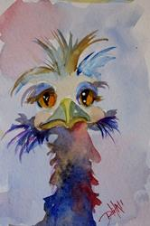 Art: Blue Ostrich by Artist Delilah Smith