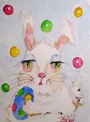 Art: Polka-Dot-Bunny by Artist Delilah Smith