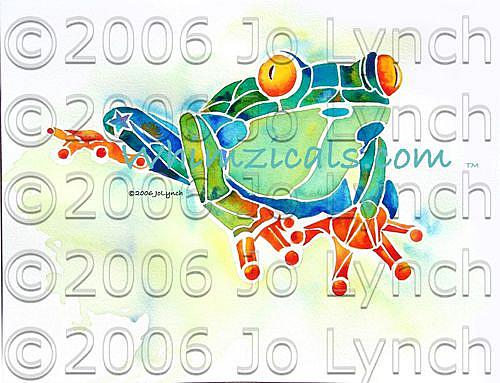 Art: Faux Fabulous Frog by Artist Jo Lynch