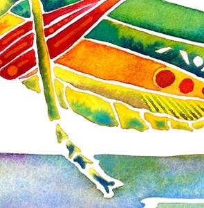 Detail Image for art Whimzical Grasshopper