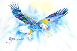 Art: Eagle's Flight by Artist Jo Lynch