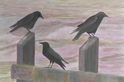Art: A Murder Of Crows by Artist Carol Thompson