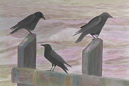 Art: A Murder Of Crows by Artist Carol Thompson